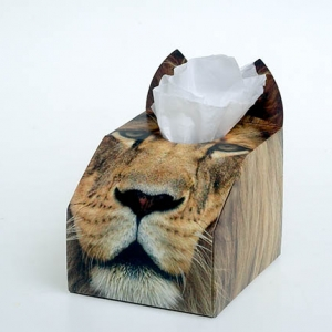 Paws 4 Africa Wild Animal tissue box | Meister Trading | The Cat Product Specialist