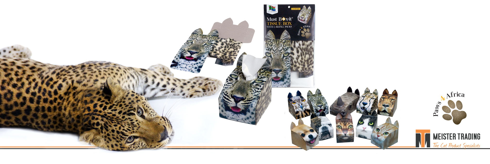 Paws 4 Africa slider | Meister Trading | The Cat Product Specialist