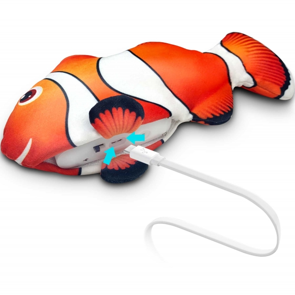 zaFish Touch Activated Interactive Flopping Fish | zaKatz | cat toy | Meister Trading